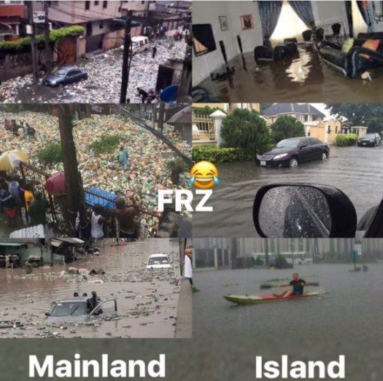 freeze mainland - PHOTOs: Daddy Freeze Mocks Lagos Mainland Residents Following Heavy Flood